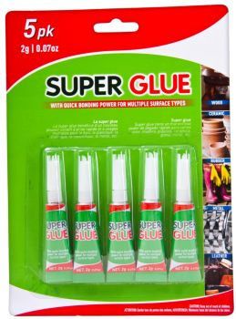 120 Pack (24 x 5 Pack) Super Glue 2g each - Wholesale Bulk Lot Deals