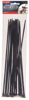 600 Pieces (24 x 25 Pack) Long Cable Ties 30cm - Wholesale Bulk Lot Deals