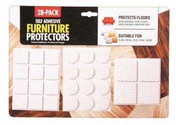 672 Piece (24 x 28 Pack) Skid Protectors 2 Assorted Colours - Wholesale Bulk Lot Deals