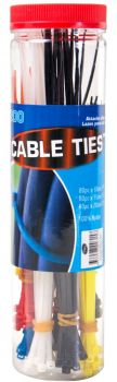 3600 Pieces (18 x 200 Pack) Cable Ties Assorted Sizes - Wholesale Bulk Lot Deals