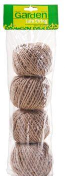 48 Pack (12 x 4 Pack) Jute String Balls 48m - Wholesale Bulk Lot Deals