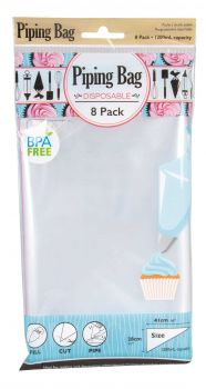 192 Piece (24 X 8 PACK) Disposable Piping Bag - Icing Bag - Wholesale Bulk lot Deal