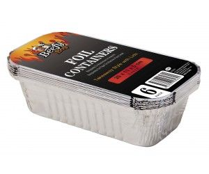 144 Pack (24 x 6 Pack) Foil Takeaway Containers with Lids - Wholesale Bulk Lot Deals