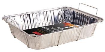 12 x Foil Roast Tray with carry case 29 x 36cm - Wholesale Bulk Lot Deal