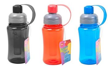 24 x Drink Bottle with Freezer Tube 300ml - Assorted Colours - Wholesale Bulk Lot Deal