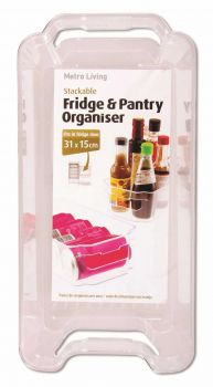 24 x STACKABLE FRIDGE & PANTRY ORGANISER 31 X 15CM - Wholesale Bulk Lot Deals