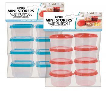 192 Pack (24 x 8 Pack) MINI STORAGE BOX ROUND & SQUARE - Wholesale Bulk Lot Deals