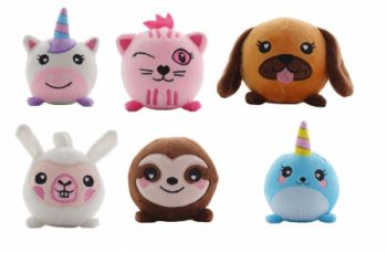 12 x SQUASHAMALS - Cutest Plush Toys - Wholesale Bulk Lot Deal
