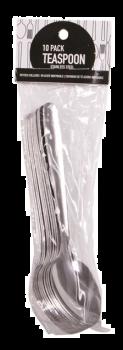 240 Pack (24 x 10 Pack) Stainless Steel Teaspoons - Wholesale Bulk Lot Deals