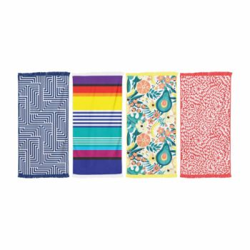 4 x RECTANGUALAR TOWEL WITH TASSEL - Wholesale Bulk Lot Deal