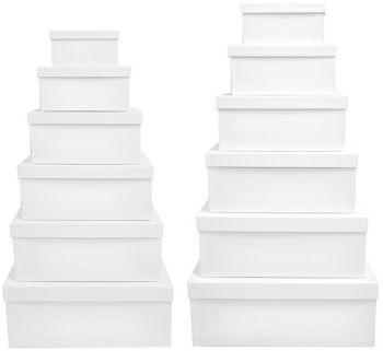 2 X White Gift Box - Set of 12 Rectangle boxes