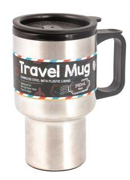 12 x Stainless Steel Travel Mug 390ml - Wholesale Bulk Lot Deal