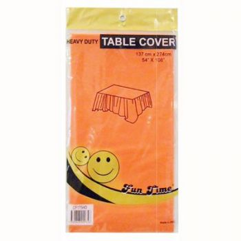 12 x Orange Heavy Duty Table Cover - Wholesale Deals!