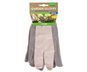 12 PAIRS x MENS GARDEN GLOVES WITH GRIP - 2 ASSORTED DESIGNS - Wholesale Bulk Lot Deals