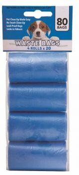 24 x 80 Pack(4 Rolls x 20 Bags) Dog Waste bag / Poop bag Rolls