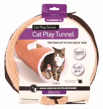 6 x Cat Play Tunnel 65 x 25cm - Wholesale Bulk Lot Deal
