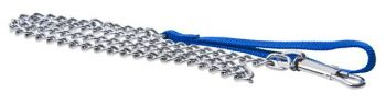 12 x Dog Lead Metal Chain 120cm - 4 Assorted Colours - Wholesale Bulk Lot Deal