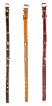 12 x Cat Leather Collar with Bell 36cm - Wholesale Bulk Lot Deal