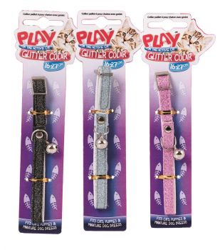 36 x Kitten Collar with Glitter 27cm - Wholesale Bulk Lot Deal