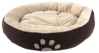 6 x Round Fleece Warm Soft Pet Bed - 55x15cm - 3 Assorted Colours - Wholesale Bulk Lot Deal
