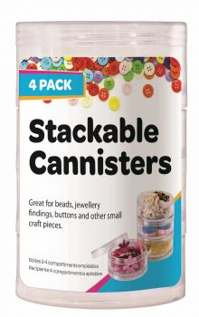 25 x 4 Stack Cannister for storing craft items - WHOLESALE BULK LOT DEAL