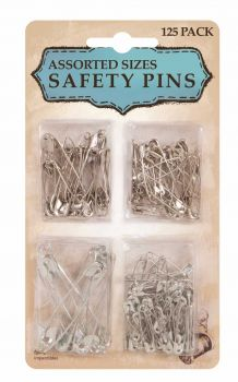 3000 Pack (24 x 125 Pack) Safety Pins - Haberdashery - Assorted sizes - WHOLESALE BULK LOT DEAL