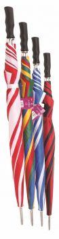 12 X Golf Umbrella - 72cm - Assorted Designs - Wholesale Bulk Lot Deals