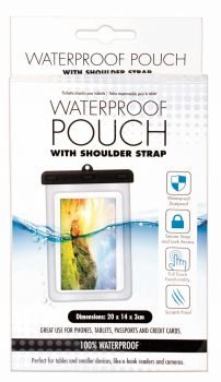 24 x WATERPROOF POUCH FOR TABLET WITH SHOULDER STRAP - Wholesale Bulk Lot Deals