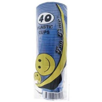 240 Pack - 6 x 40 Pack Royal Blue Cups Plastic Tumbler Glass 200mL - Super Value!