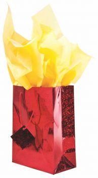 12 x Medium Holograph Gift Bag 18cm x 23cm - Assorted Colours - Wholesale Bulk Lot Deals