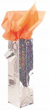 12 x Holograph Bottle Bag 10cm x 33cm - Assorted Colours - Wholesale Bulk Lot Deals