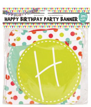 24 x Large Paper Happy Birthday Joint Banner - Birthday Party Banner - 4 Assorted Designs - Wholesale Bulk Lot Deals