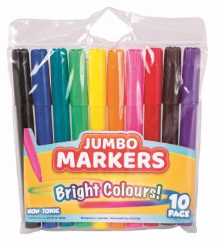 240 Pack (24 x 10 Pack) Jumbo Markers - Wholesale Bulk Lot Deals