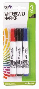 72 Pack (24 x 3 Pack) Whiteboard / White Board Markers - Mix Colours - Wholesale Bulk Lot Deals