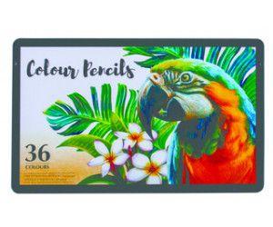 6 x 36 Deluxe Colour Pencils in a tin box - Wholesale Bulk Lot Deals