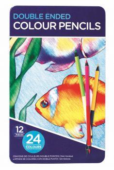 288 Pack (24 x 12 Pack) Double Ended Colour Pencils - Wholesale Bulk Lot Deals