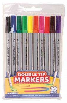 240 Pack (24 x 10 Pack) Double Tip Colour Markers - Wholesale Bulk Lot Deals