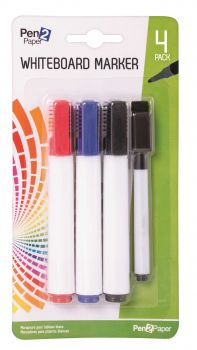 72 Pack (24 x 3 Pack) Whiteboard / White Board Markers with Pen -  Assorted Colours - Wholesale Bulk Lot Deal