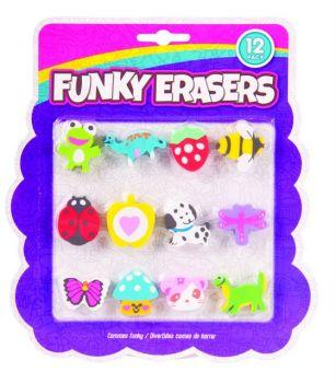 24 x 12 Pack Kids / Children Funky Erasers - Mix Designs Super Value! - Wholesale Bulk Lot Deals