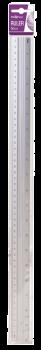 24 x Big Sturdy Aluminium Ruler 50cm - Wholesale Bulk Lot Deals