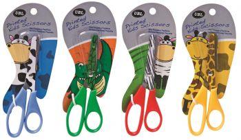 36 x Kids Animal Printed Scissors Craft Scissors - Cow Sheep Girraffe Aligator - Wholesale Bulk Lot Deals