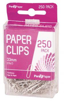 6000 Pack (24 x 250 Pack) Paper Clips 33mm - Wholesale Bulk Lot Deals