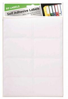 2000 Pack (25 x 80 Pack) Adhesive Labels 75 x 50mm - Wholesale Bulk Lot Deal