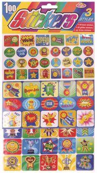 8880 Stickers (24 x 370 Pack) Sticker Sheets - Laser, Glitter & Funny - WHOLESALE BULK LOT DEAL