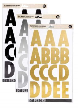 3384 Stickers (94 x 36 Pack) Stickers Large Alphabet Sheet - WHOLESALE BULK LOT DEAL