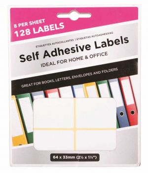 3072 Pack (24 x 128 Pack) Adhesive Labels 64 x 33mm - Wholesale Bulk Lot Deal