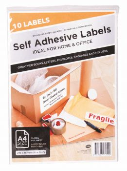 240 Pack (24 x 10 Pack) A4 Adhesive Label - Wholesale Bulk Lot Deal