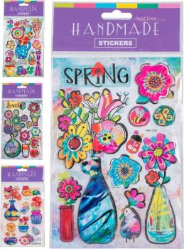 48 x Handmade Glitter Sticker Sheet - WHOLESALE BULK LOT DEAL