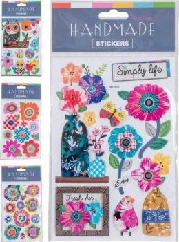 48 x Handmade Bright Sticker Sheet - WHOLESALE BULK LOT DEAL