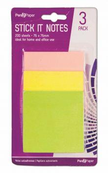 24 x Neon Stick on Notes 201 Piece - Wholesale Bulk Lot Deal